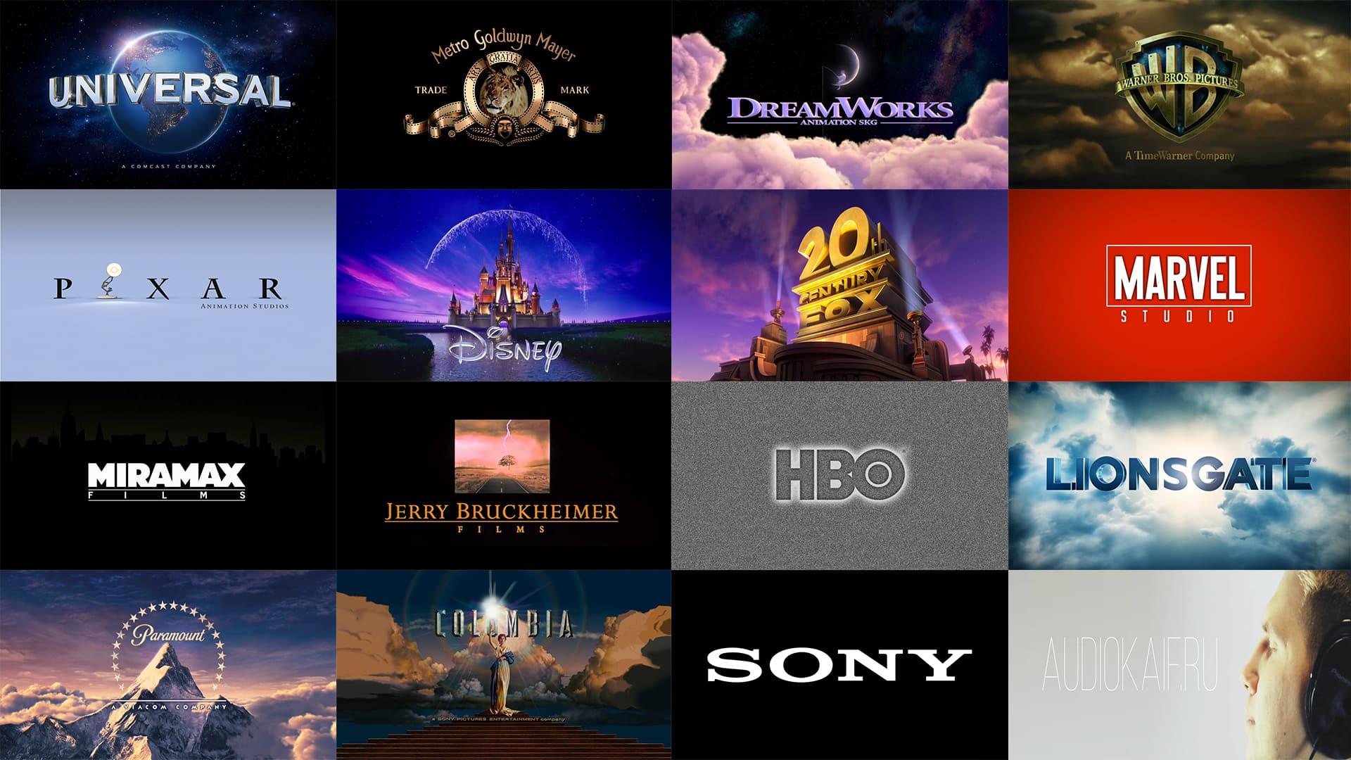 Заставки Intro 15 популярных кинокомпаний
